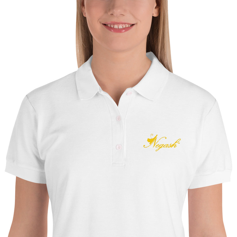 Negash Signature (Gold) Embroidered Queens Polo Shirt