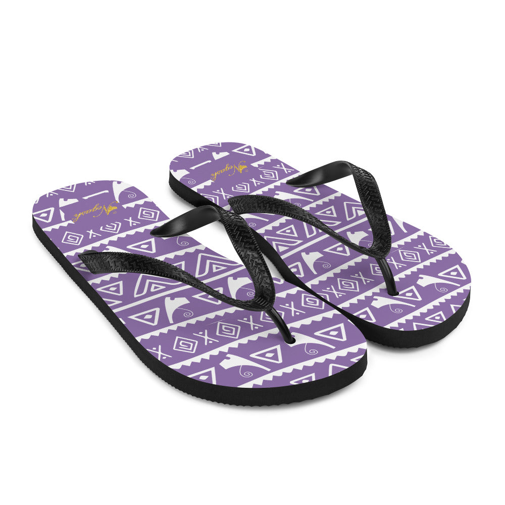 Negash Tribal (Purple) Flip-Flops