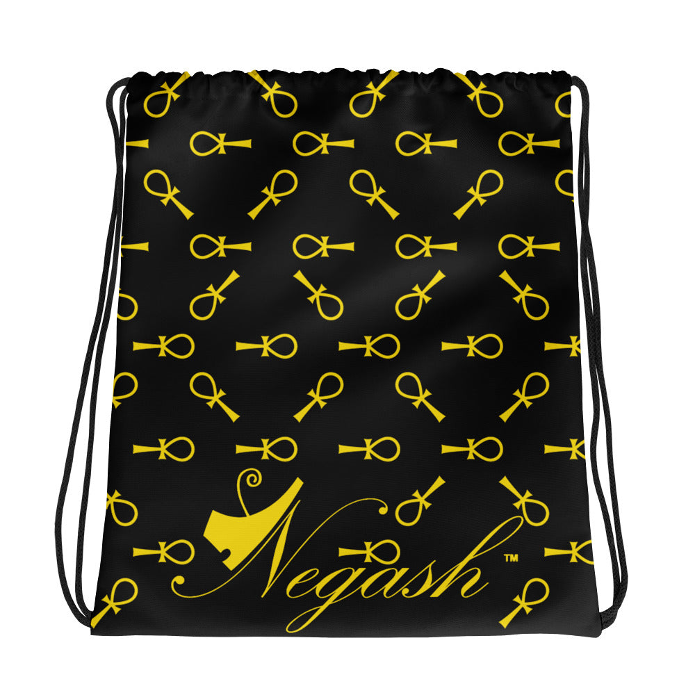 Negash Ankh All-Over Print Drawstring Bag