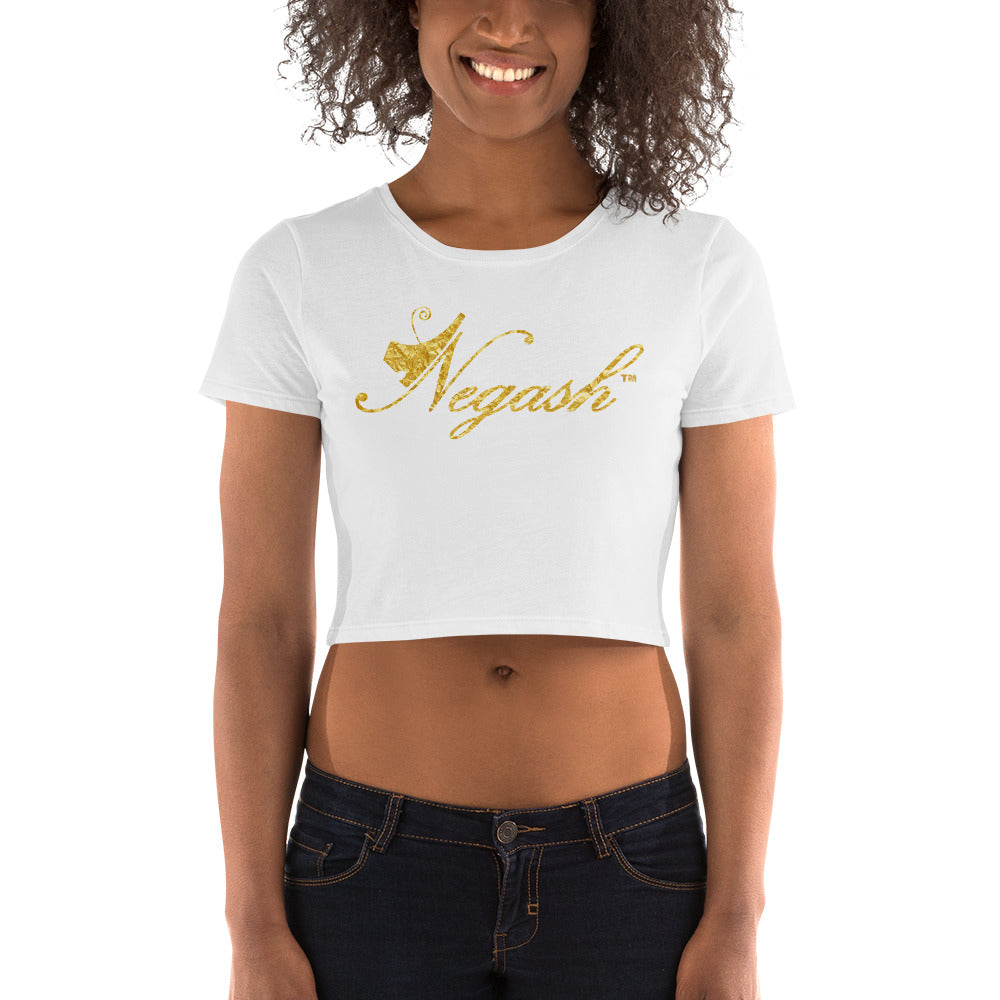 Negash Signature (Gold) Crop Tee