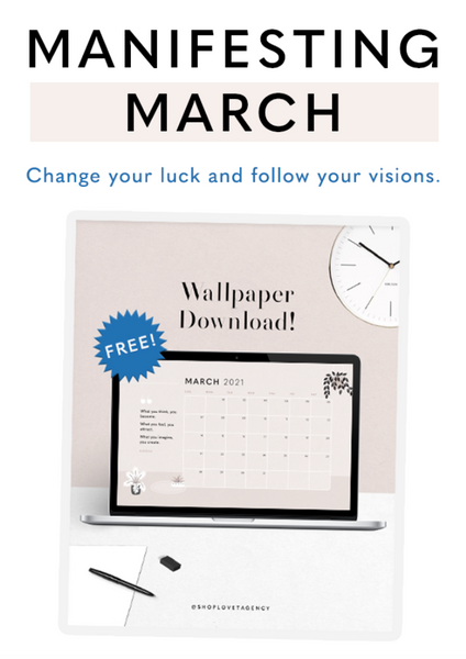 Manifesting March: Setting Intentions & Affirmations (+ Free Wallpaper Download)