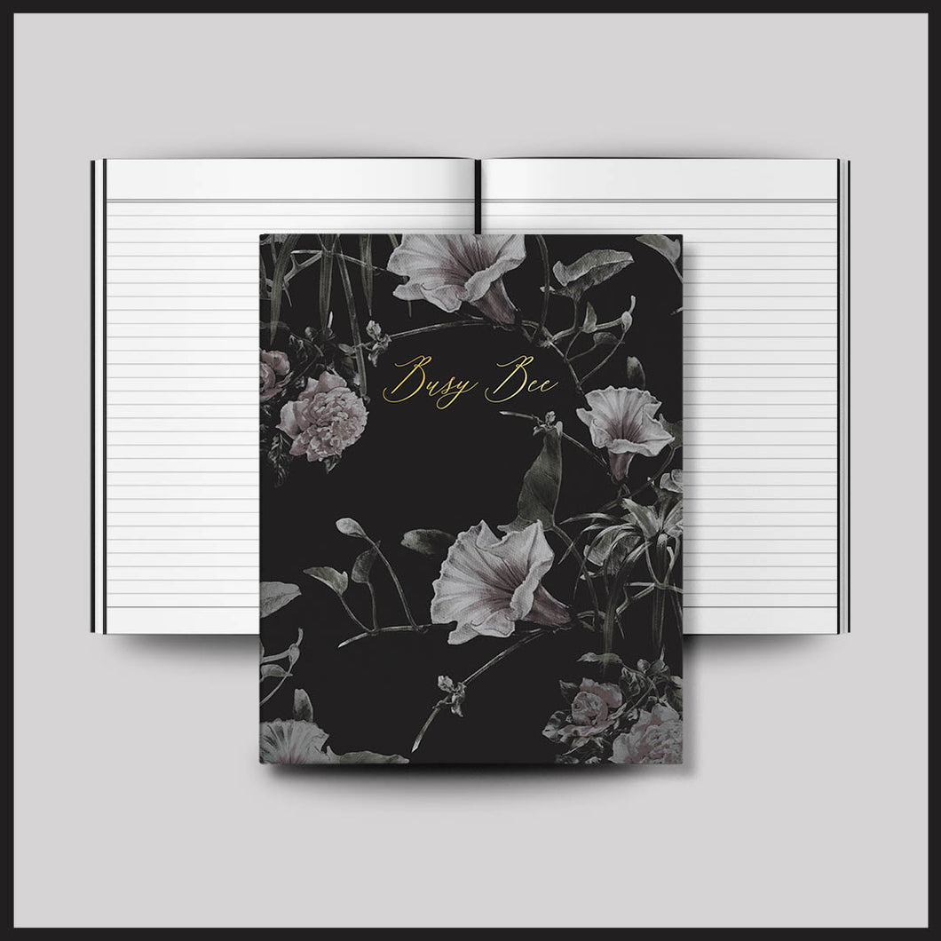Busy Bee Floral Notebook
