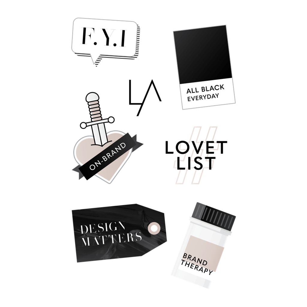 LOVET Sticker Set