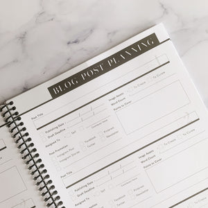 blog planner notebook