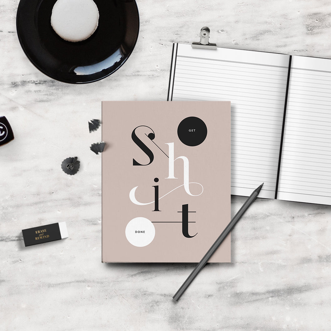 Get Shit Done Notebook (Blush)