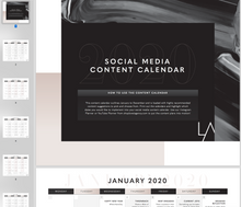 Load image into Gallery viewer, Instagram Content Calendar 2020 with Content Ideas for everyday