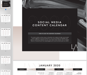 Instagram Content Calendar 2020 with Content Ideas for everyday