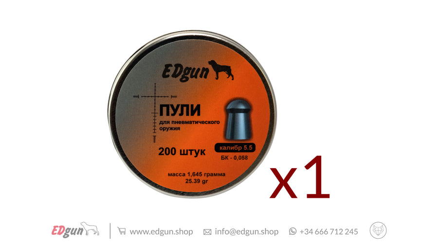 Balines EDgun Premium Monster<br />Calibre .22 (5,52 mm) &middot; <br />Peso&nbsp;1,645g&nbsp;(25,39gr)