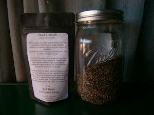 black cohosh cut sifted