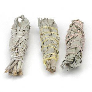 White Sage, baby smudge sticks, Wildcrafted  - 2 oz. - Spirit Rising