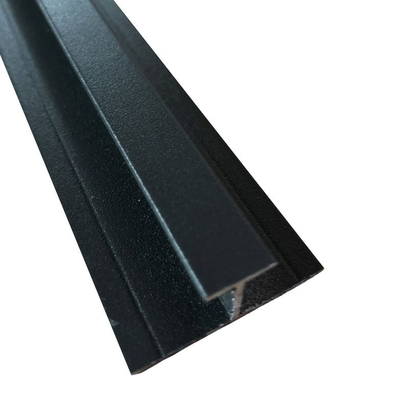 Aluminium H Joining Trim Anthracite (10mm Depth)
