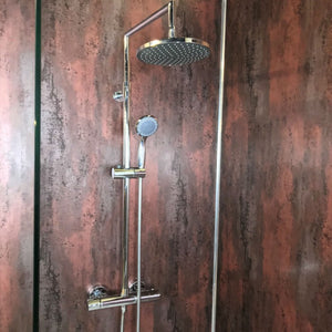 Large Brushed Copper Shower Panel 1.0m x 2.4m-Shower Panel-Decor Walls & Flooring