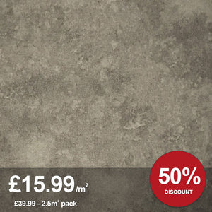 Warm Concrete LVT Flooring 2.5M² PACK-LVT-Decor Walls & Flooring
