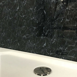 Large Black Marble Shower Panel 1.0m x 2.4m-Shower Panel-Decor Walls & Flooring