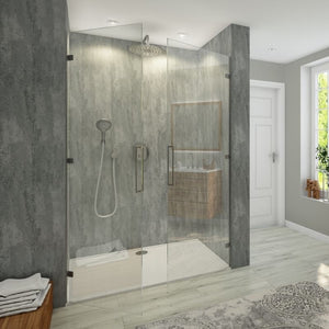 Large Brushed Silver Grey Shower Panel 1.0m x 2.4m-Shower Panel-Decor Walls & Flooring