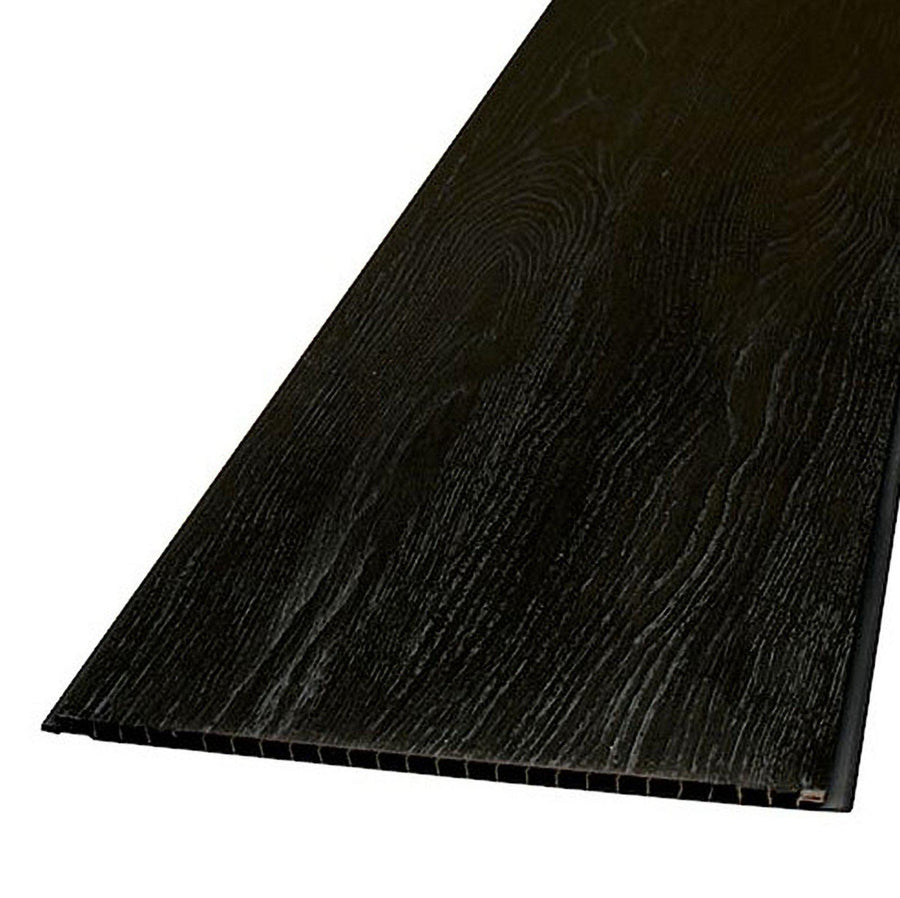 Decorwall Wood Grain Black Silver Elegant Oak