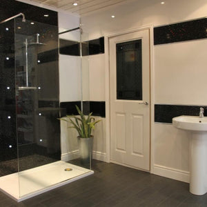 Large Black Sparkle Shower Panel 1.0m x 2.4m-Shower Panel-Decor Walls & Flooring