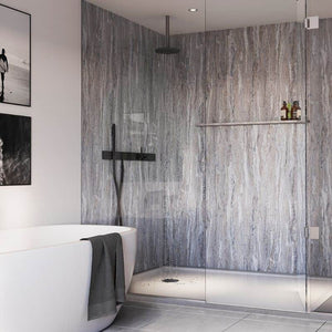 Blue Toned Stone-ShowerWall-Decor Walls & Flooring