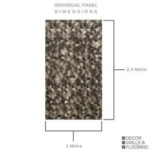 Large Premium Hexagonal Bronze Shower Panel 1.0m x 2.4m-Shower Panel-Decor Walls & Flooring