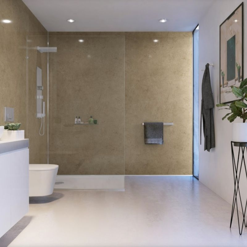Cappuccino Marble-ShowerWall-Decor Walls & Flooring