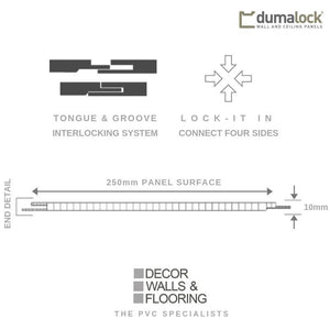 Dumalock 3 Tile Monaco Grey-Decor Walls & Flooring