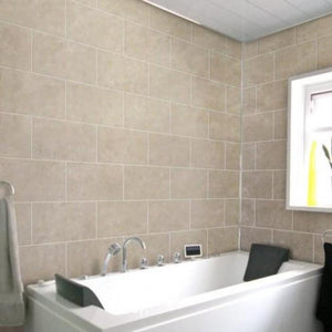 Dumalock 3 Tile Stone Galet Light Beige-Decor Walls & Flooring