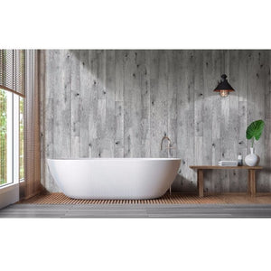 Large Premium Light Grey Oak Shower Panel 1.0m x 2.4m-Shower Panel-Decor Walls & Flooring