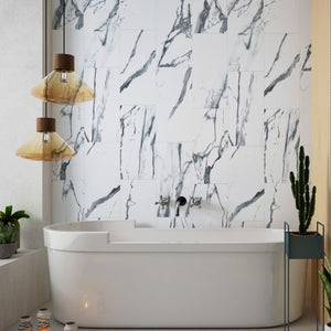 Grey Onyx Gloss Shower Panel 600mm x 2.4m - PACK OF 2-Shower Panel-Decor Walls & Flooring