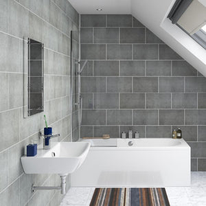 Stone Grey Tile Effect-Decor Walls & Flooring