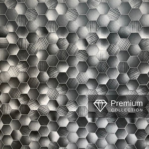 Large Premium Hexagonal Grey Shower Panel 1.0m x 2.4m-Shower Panel-Decor Walls & Flooring
