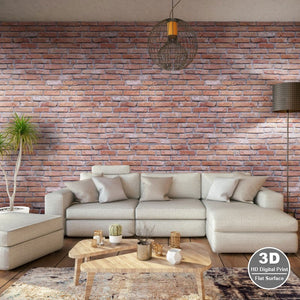 Rustic Brick Red-Decor Walls & Flooring