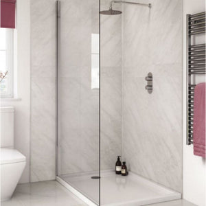 Large Subtle Grey Marble Shower Panel 1.0m x 2.4m
