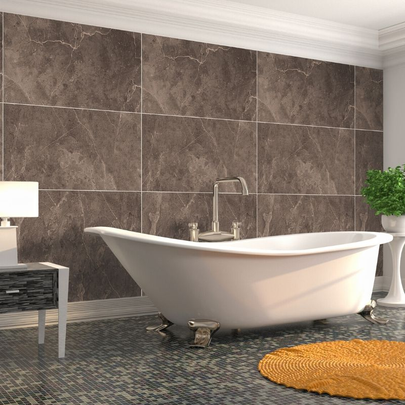 Large Premium Tile Bronze Shower Panel 1.0m x 2.4m-Shower Panel-Decor Walls & Flooring