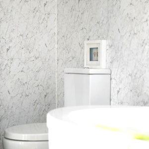 Large White Marble Shower Panel 1.0m x 2.4m