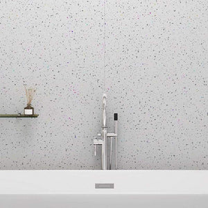 Large Platinum White Sparkle Shower Panel 1.0m x 2.4m