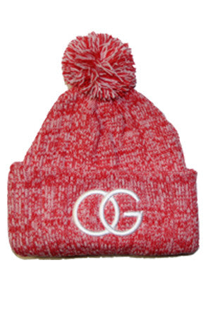 613 Powder Red Beanie