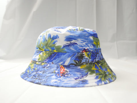 624 Ocean Blue Graphic Bucket Hat