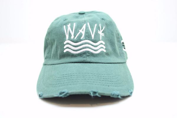 154 Seaweed Green Distressed (Polo Style) Strapback
