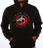 313 RED OGC SHARK LOGO BLACK HOODIE