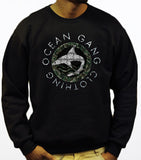 212 ARMY OGC SHARK LOGO BLACK CREWNECK