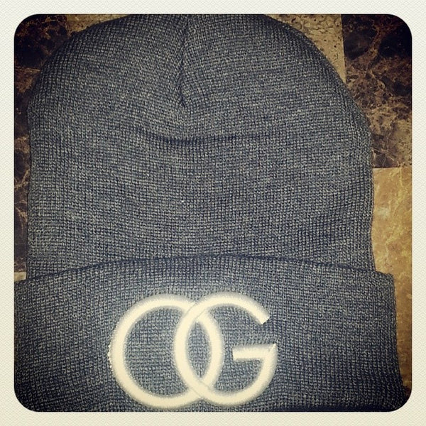 607 Dark Grey White OG Beanie