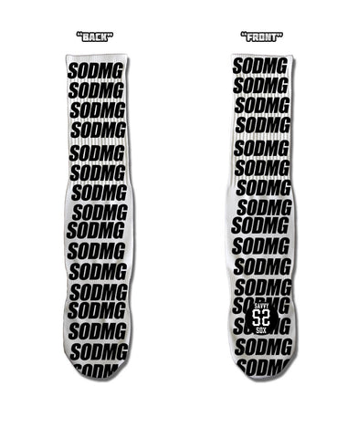 904 White/Black SODMG Socks
