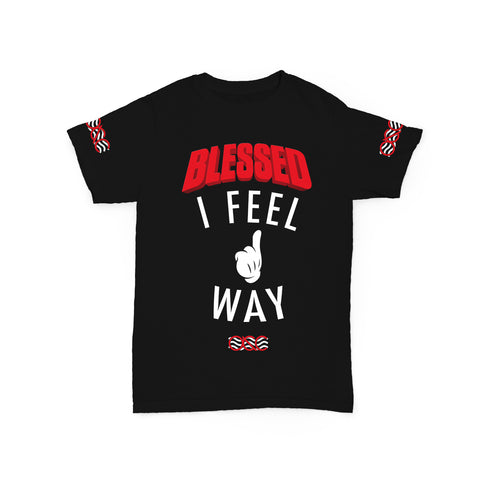 572 Way Up I Feel Blessed Black/Red Tee