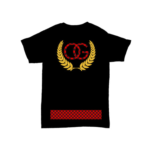 574 OG Crest Plaid Black Tee