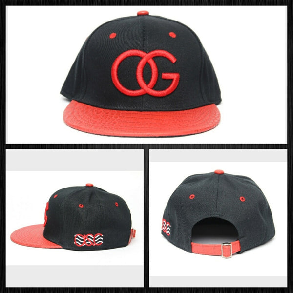 123 Black/Red OG Gator Skin Strapback