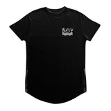 576 Black Wavy Scoop Tee w/ Zipper