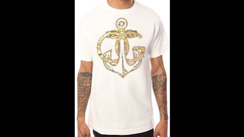 567 Gold OG Anchor White Tee