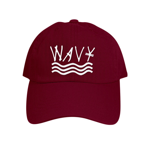 151 Maroon Wavy Cotton Wash (Polo Style) Strapback