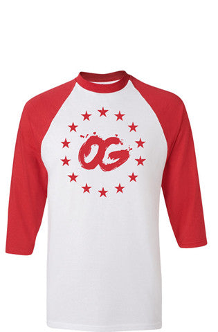 556 OG Starz Red Baseball Tee