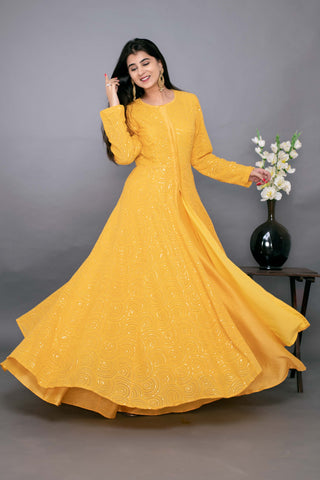 https://www.shauryasanadhya.com/collections/new-arrivals-1/products/yellow-thread-work-anarkali-with-chanderi-skirt-set-of-3?variant=31693583908960